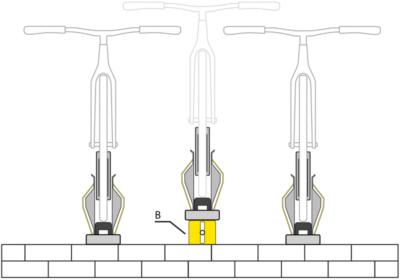 PARKIS Universal Mounting Extension Set, Darstellung Schema